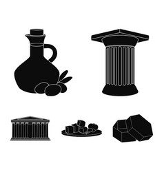 Greece country tradition landmark greece set vector