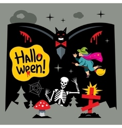 Halloween Graveyard Cartoon vector image vector image
