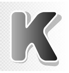 letter k sign design template element new vector image