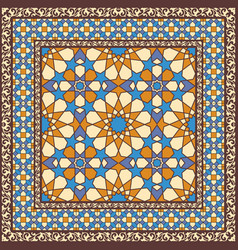 Ornamental pattern in arabic style vector