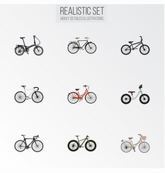 realistic fashionable bmx retro and other vector image