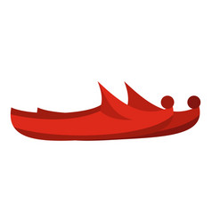 Red turkish shoes icon isolated vector