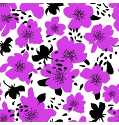 Seamless floral background isolated blooming vector
