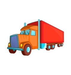 Semi trailer truck icon cartoon style vector