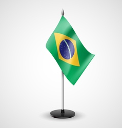 Table flag of brazil vector