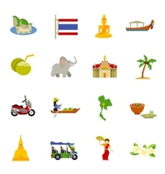Thailand Icons Set vector image vector image