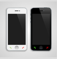 white and black phone vector image vector image