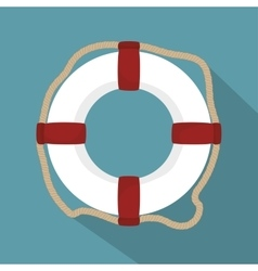 Lifeguard float circle icon vector