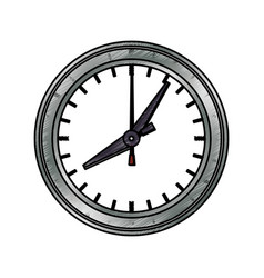 Clock and time concept vector