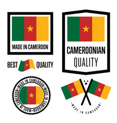 cameroon quality label set for goods vector image