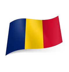 National flag of romania blue yellow and red vector