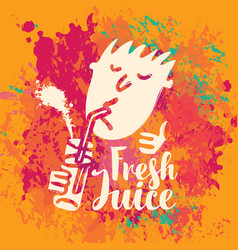 banner for fresh juice on the abstract background vector image