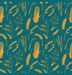 Cartoon cereals grain background pattern vector