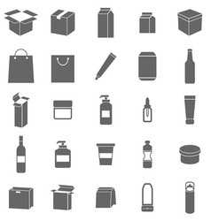 Packaging icons on white background vector