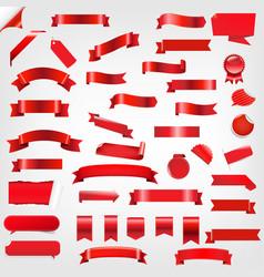 big set ribbons and labels vector image