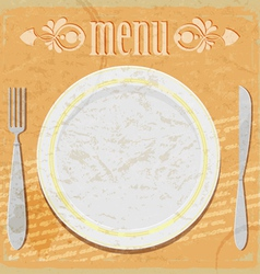 Vintage card - the restaurant menu vector image