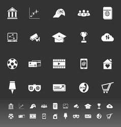 General online icons on gray background vector