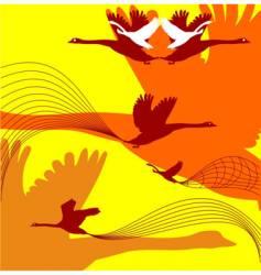 fall birds vector image