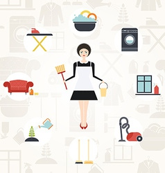 Pretty housekeeper vector