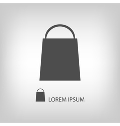 Grey shopping bag vector