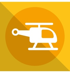 Helicopter icon vector