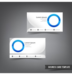 Business card template set 033 clear style dot vector