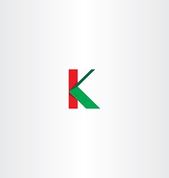 Green red letter k sign logotype icon vector