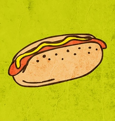 Hotdog cartoon vector