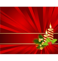 christmas decorations vector image