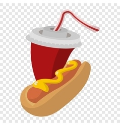 Hot dog and soda vector