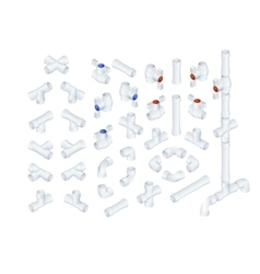 Isometric plumbing elements vector