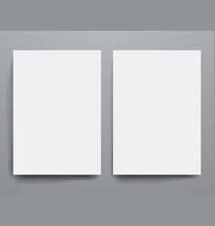 Design template empty brochures shadow in vector