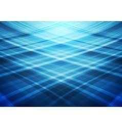 Blue wavy lines abstract background vector image
