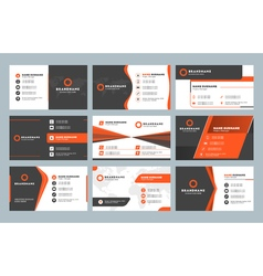 Set of modern business card print templates vector image
