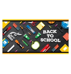 Back to school School supplies vector image