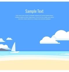 Beautiful seascape vector image