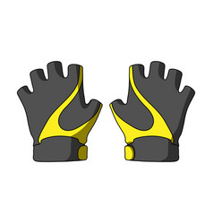 Bike hand gloves for cyclists protective vector