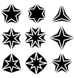black star symbols vector image vector image