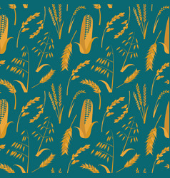 Cartoon cereals grain background pattern vector