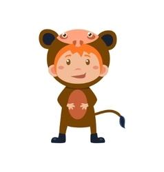 Child Wearing Costume of Monkey vector image vector image