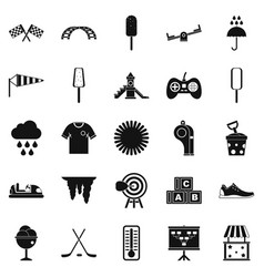 children playground icons set simple style vector image