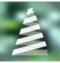 Christmas tree from folded ribbon vector image