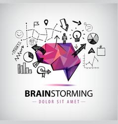 creative logo brainstorm creating new vector image vector image