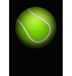 Dark background of tennis ball vector