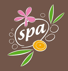 drawn logo accessories for spa salon vector image vector image
