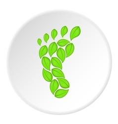 Eco footprint icon cartoon style vector image