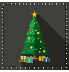 Fir tree with gifts vector image vector image