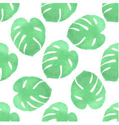 Green tropical pattern vector