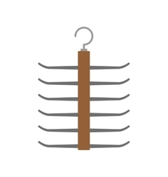 Hook of wood icon hanger object design vector