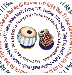 Indian musical instruments - tabla vector